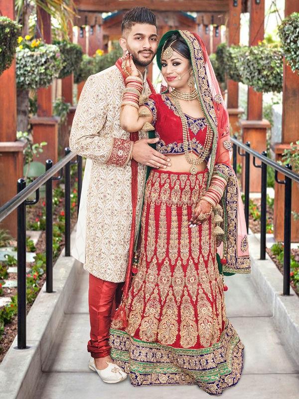 wedding photo in wolverhampton with couple