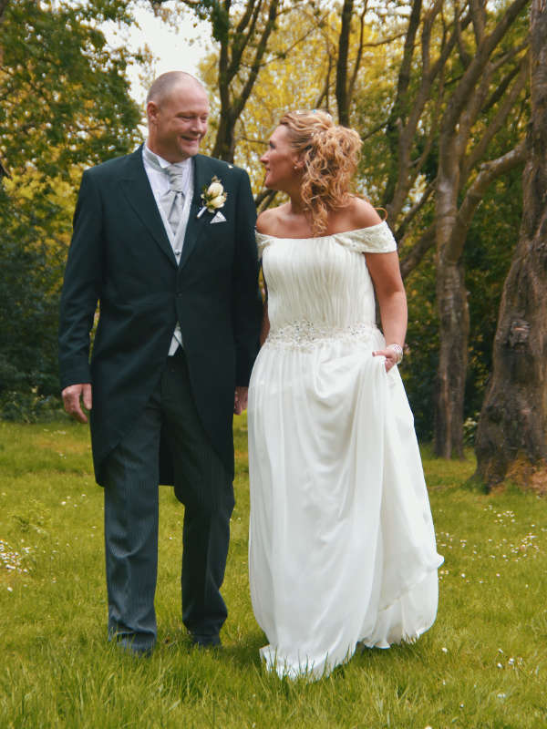 couple in their wedding photo during a videography shoot in coventry